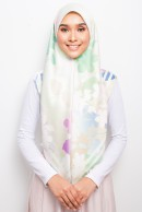 PP SQUARE SCARF -  APPLE BLOSSOM GREEN II