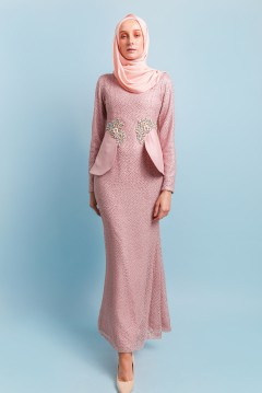ALYSSA LACEY DRESS - DUSTY PINK