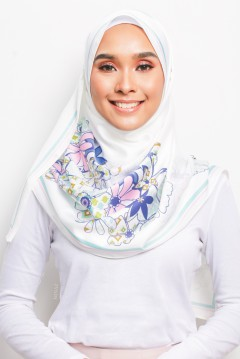 PP LONG SHAWL - ANEMONE WHITE I