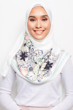 PP LONG SHAWL - ANEMONE WHITE II