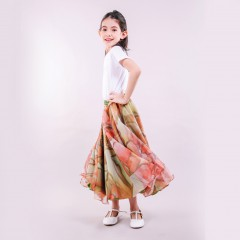 SKIRT MUSCARY PRINTED  KIDS OLIVE GREEN
