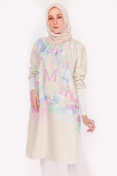 M LONG TOP - APPLE BLOSSOM GREEN