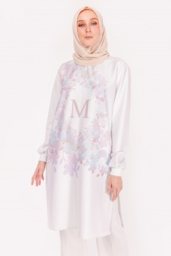 M LONG TOP - APPLE BLOSSOM GREY