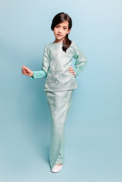 TERESSA BROCADE KIDS - TIFFANY (L-XXL)