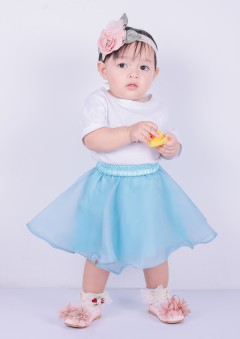 SOFEA ORGANDI BABY - DUSTY BLUE