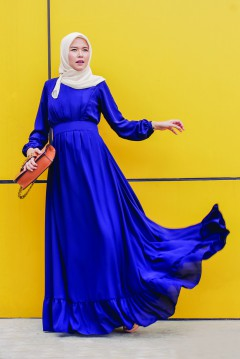 JULIA FLOWY TALL - NAVY BLUE
