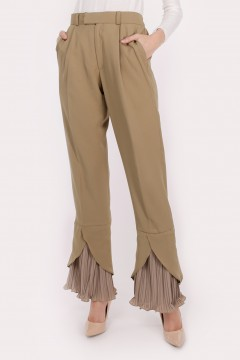 RHEA PLEATED - DUSTY GREEN