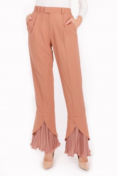 RHEA PLEATED -  BROWN