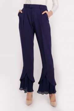 RHEA PLEATED - DARK BLUE