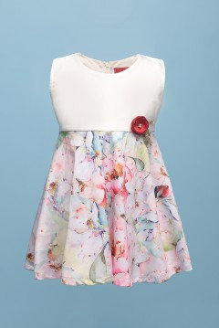 ROSE BABY DRESS - SOFT CREAM