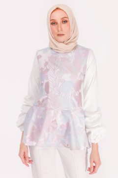 RUFELLA TOP - APPLE BLOSSOM GREY
