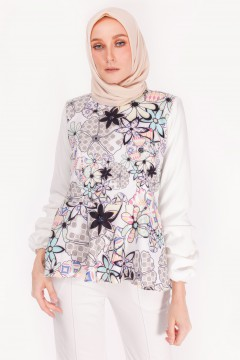 RUFELLA TOP - ANEMONE BLACK