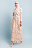 RAMONA LACEY DRESS - CHAMPAGNE
