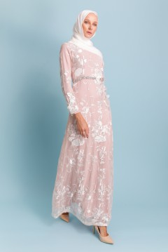 RAMONA LACEY DRESS - PASTEL PINK