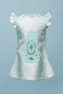 TERESSA BROCADE BABY DRESS - TIFFANY