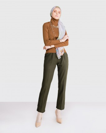 TAPERED PANTS - ARMY GREEN