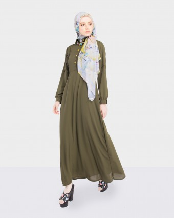 NAIRA DRESS - ARMY GREEN