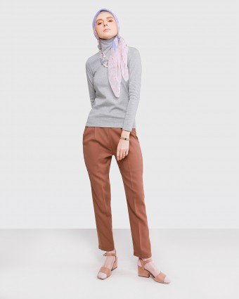 TAPERED PANTS - BROWN