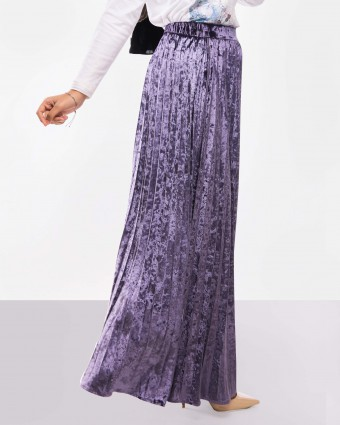 VELVET SKIRT - DUSTY PURPLE