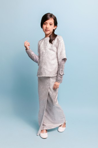 TERESSA BROCADE KIDS - GREY (L-XXL)