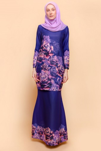 ROYAL ROSE KURUNG - PURPLE