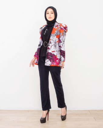 LISA BATIK SUIT - RED CHILLI