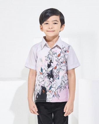 ALTHEA KIDS SHIRT - BEIGE (M-L)