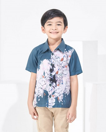 ALTHEA KIDS SHIRT - EMERALD GREEN (XL-3XL)