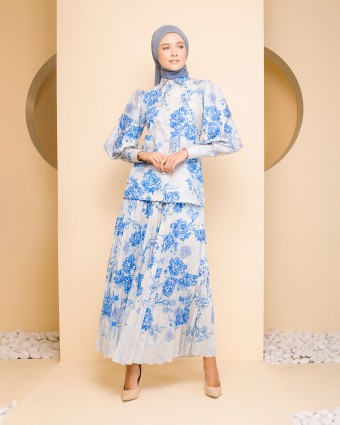 ADELINE ASIAN SUIT - BLUE WHITE