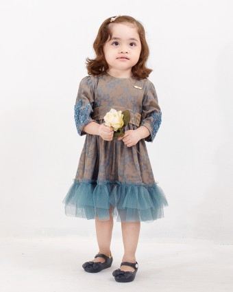 ATIKAH BABY DRESS - TIFFANY