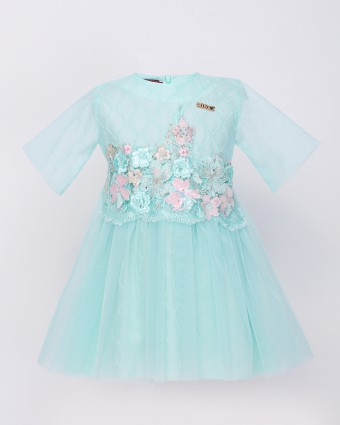 ATILIA LUXE BABY DRESS - TIFFANY GREEN