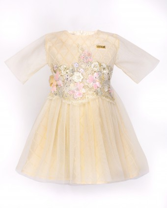 ATILIA LUXE BABY DRESS - PASTEL YELLOW