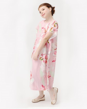 BOUGAINVILLEA KIDS KAFTAN - DUSTY PINK