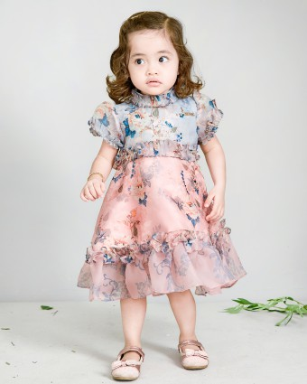 CANDY SERIES BABY DRESS - PEACH MELBA