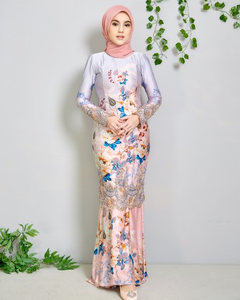 CANDY SERIES KURUNG - PEACH MELBA