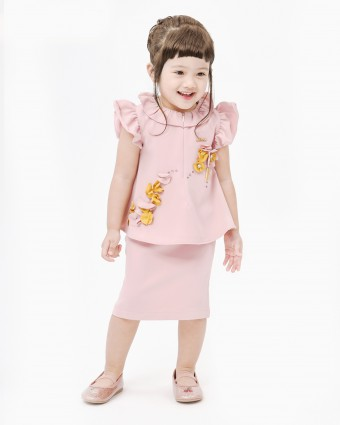 CARLEENA BABY MINI KURUNG - DUSTY PINK