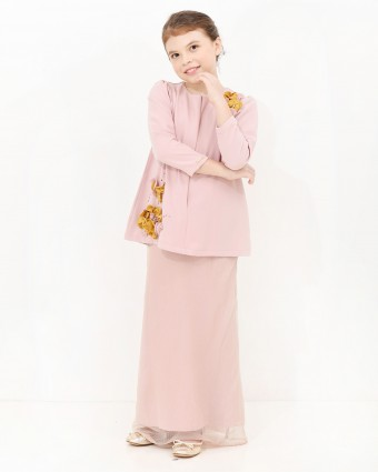 CARLEENA PEPLUM KIDS - DUSTY PINK (L-XL)