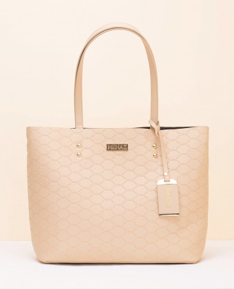 MEDIUM MONOGRAM TOTE BAG - IVORY