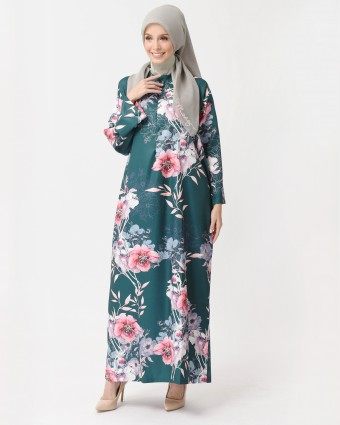 CHERRY BLOSSOM KAFTAN - EMERALD GREEN