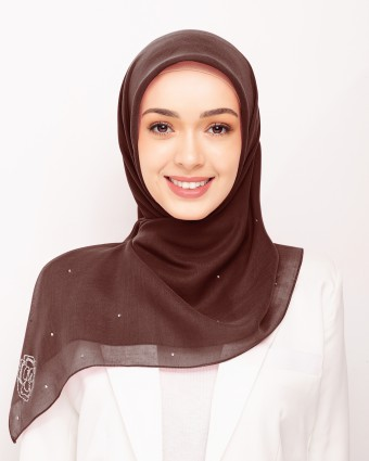 SECRET GARDEN PLAIN BAWAL - COFFEE BROWN