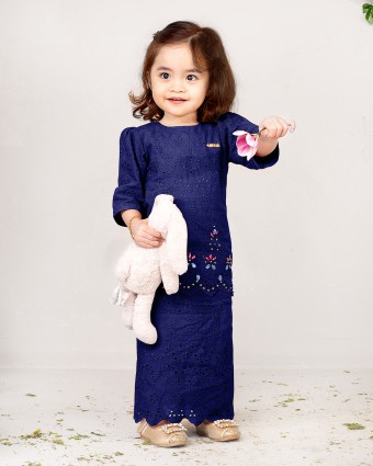EMMA BABY BASIC KURUNG - DARK BLUE