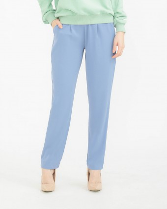 TAPERED PANTS - DUSTY BLUE