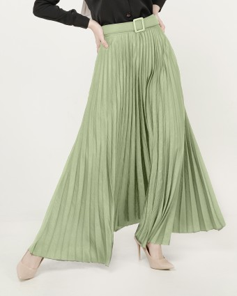 PLEATED SKIRT - DUSTY GREEN