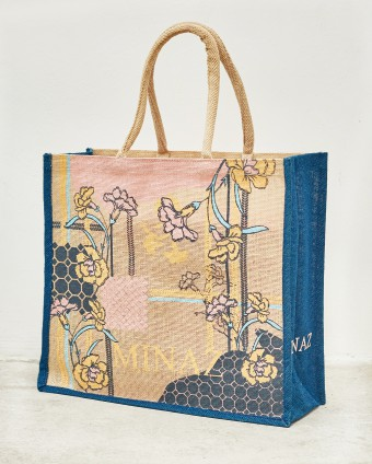 DAFFODIL JUTEBAG - DARK BLUE