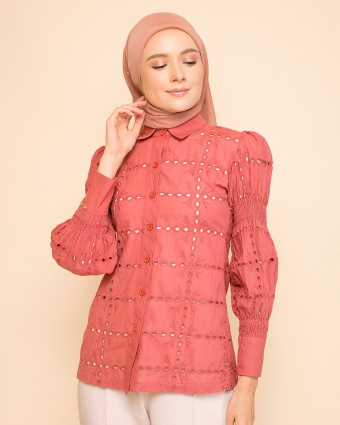 EMMA PUFFY TOP - BRICK RED | PRE-ORDER