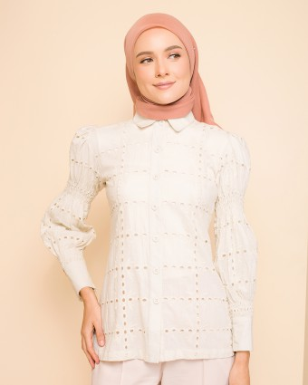 EMMA PUFFY TOP - CREAM | PRE-ORDER