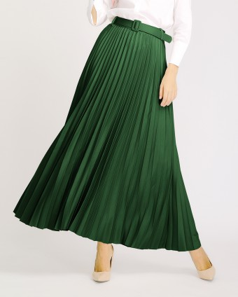 PLEATED SKIRT - EMERALD GREEN