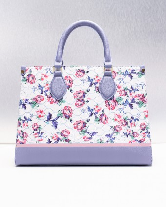 ENGLISH PORCELAIN TOTE BAG - CREAM