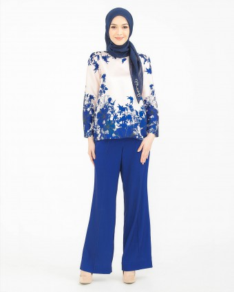 HIBISCUS SUIT - DARK BLUE