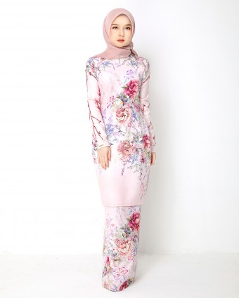 SECRET GARDEN KURUNG MODERN - SOFT PINK